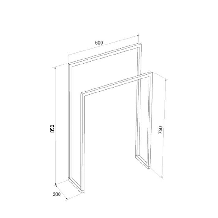 URUZ II Steel - Gantungan Handuk - Specification